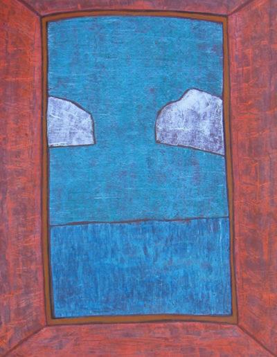 Wolken*, 65 x 95 , Acryl auf Hartfaser, 2005