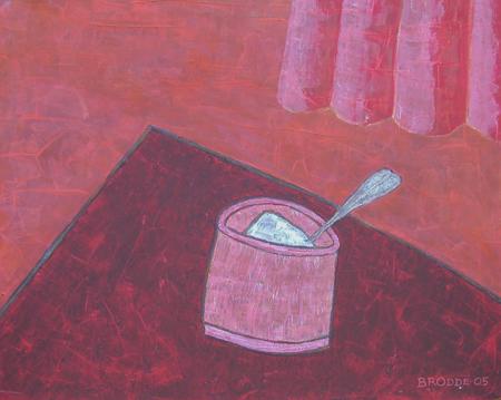 Zuckerdose, 60 x 75 , Acryl auf Hartfaser, 2005