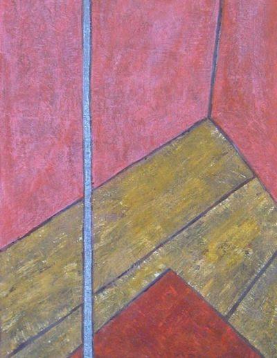 Stehlampe, 50 x 125, Acryl auf Hartfaser, 2005