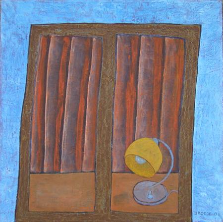 Fenster, 100 x 100 , Acryl auf Textil, 2006