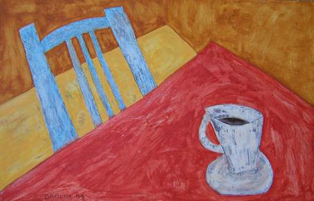 Tasse Stuhl*, 70 x 105 , Acryl auf Hartfaser, 2007