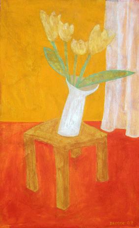 Weiße Vase*, 75 x 123 , Acryl auf Hartfaser, 2007