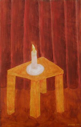 Kerze, 75 x 120 , Acryl auf Hartfaser, 2007