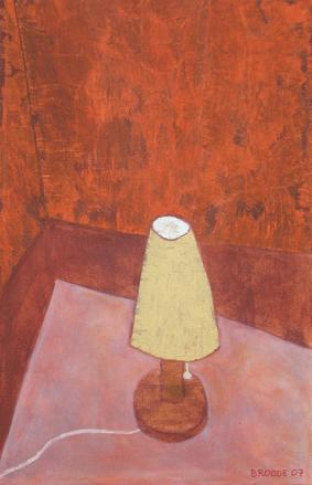 """Tischlampe, 60 x 95 , Acryl auf Textil, 2007"""""""