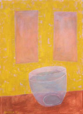 Glasvase, 70 x 95 , Acryl auf Textil, 2007