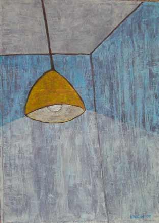 Blaues Zimmer, 95 x 70 , Acryl auf Textil, 2008