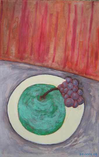 Obstteller, 95 x 60 , Acryl auf Textil, 2008
