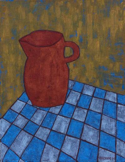 Karierte Tischdecke, 70 x 90 , Acryl auf Leinwand, 2011