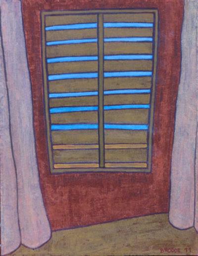 Jalousie, 70 x 90 , Acryl auf Leinwand, 2011
