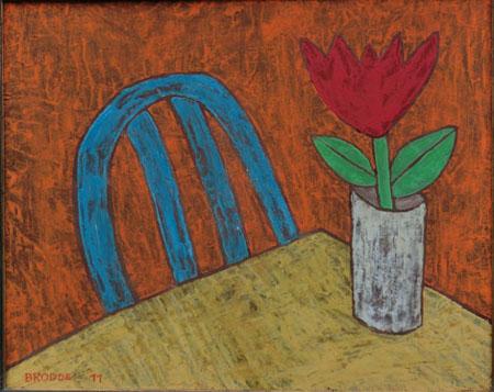 Tulpe, 50 x 60 , Acryl auf Hartfaser, 2011