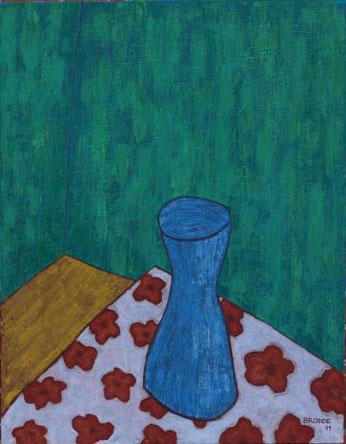 Blaue Vase, 70 x 90 , Acryl auf Leinwand, 2011