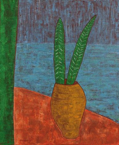 Gelbe Vase, 100 x 120 , Acryl auf Leinwand, 2011