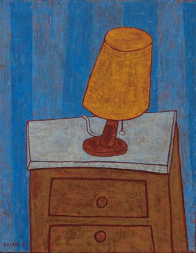 Nachttischlampe, 70 x 100 , Acryl auf Leinwand, 2011
