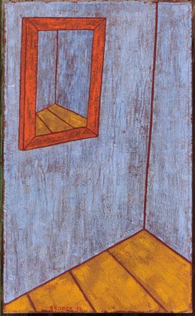 Spiegel, 60 x 100 , Acryl auf Textil, 2012