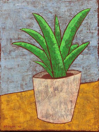 Pflanze, 60 x 80 , Acryl auf Textil, 2012