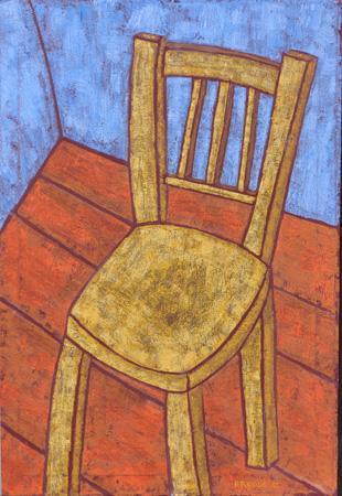 Gelber Stuhl, 70 x 100 , Acryl auf Textil, 2012
