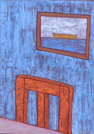 Boot, 50 x 70 , Acryl auf Textil, 2012
