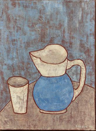 Blauer Krug, 50 x 70 , Acryl auf Textil, 2012