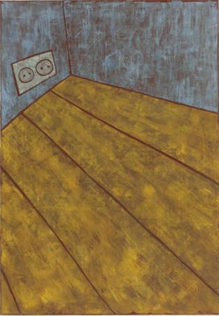 Steckdose, 70 x 100 , Acryl auf Textil, 2013