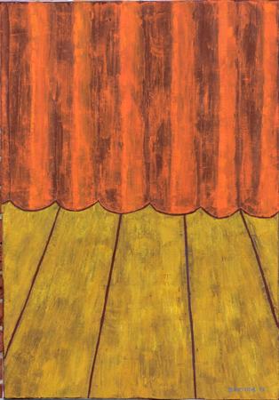 Vorhang, 70 x 100 , Acryl auf Textil, 2013
