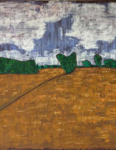 Landschaft Maynbach, 70 x 100 , Acryl auf Leinwand, 2017