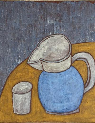 Krug und Becher, 60 x 88 , Acryl auf Leiwand, 2014