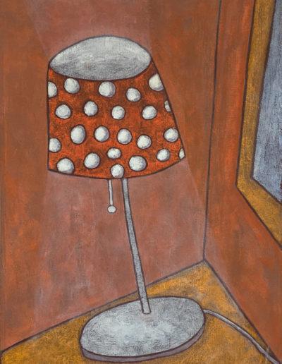 Stehlampe mit Punkten, 60 x 85 , Acryl auf Leinwand, 2015