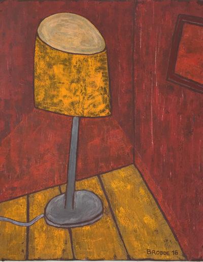 Stehlampe grauer Fuß, 50 x 60 , Acryl auf Leinwand, 2016